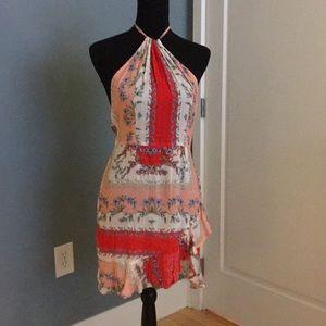 Flynn Skye halter/backless mini dress